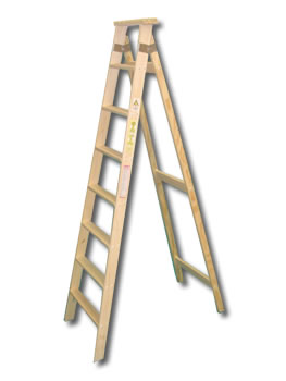 Familiar madera for Escalera de electricista